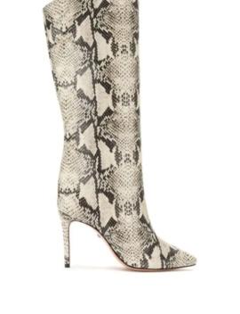 Snake Print Effect Boots by Schutz