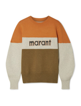 Kedy Color Block Intarsia Knitted Sweater by Isabel Marant Étoile