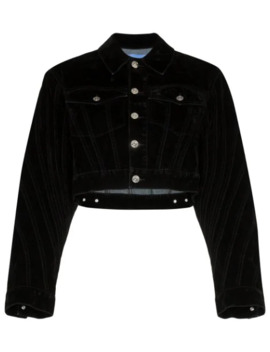 Veste Crop En Velours by Mugler