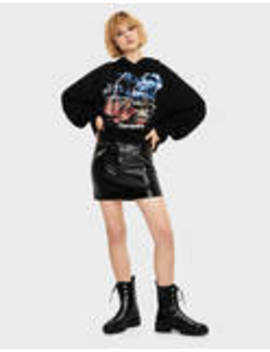 Vinyl Skirt With Belt by Bershka