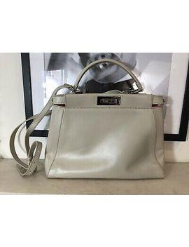 Fendi Peekaboo Regular Beige Soft Leather Handbag by Ebay Seller