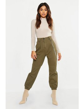 High Rise Utility Pocket Cargo Jeans by Boohoo