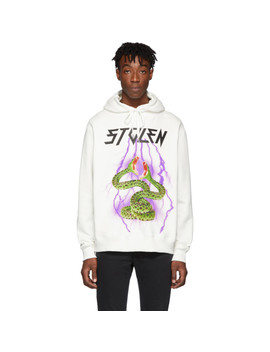 Ssense Exclusive White Lighting Hoodie by Stolen Girlfriends Club