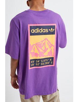 Adidas Adiplore Purple Graphic Short Sleeve T Shirt by Adidas