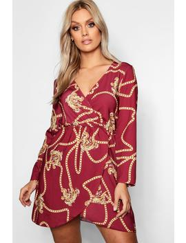 Plus Chain Printed Wrap Dress by Boohoo