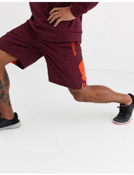 Nike Training Woven Shorts With Camo Panels In Burgundy by Nike's