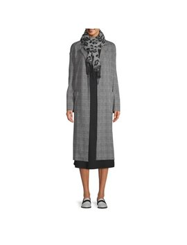 Scoop Patch Pocket Plaid Knit Duster Women's by Scoop