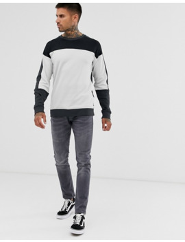 Only & Sons Sweatshirt With Block Panel Detail by Only & Sons