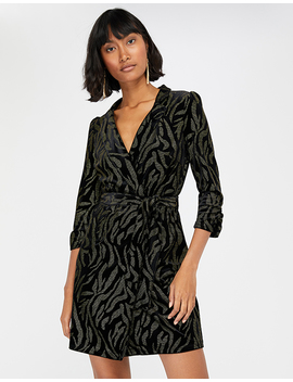 Nadia Nailhead Velvet Blazer Dress by Monsoon
