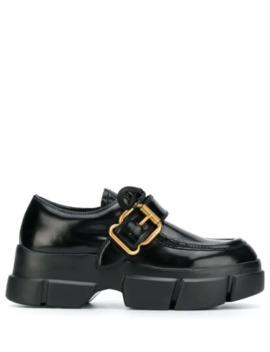 Buckle Detail Lace Up Shoe by Prada
