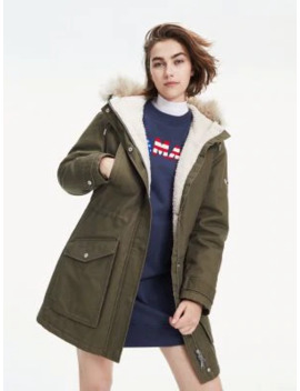 Essential Lined Cotton Parka by Tommy Jeans