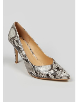 Pointed Snake Print Court Shoes by Matalan