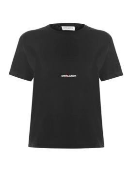 Crew Neck Logo T Shirt by Saint Laurent