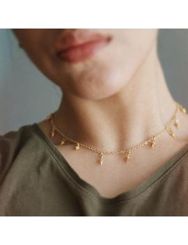 Mini Drop Choker,  Gold Dainty Choker, Drop Choker, Bead Choker, Gift For Her, Gold Dangle Choker, Gift For Her, Dainty Choker Necklace by Etsy
