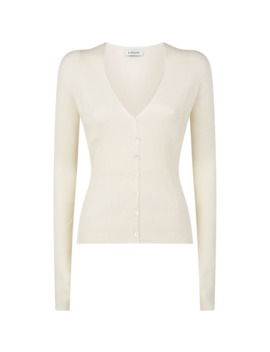 Knitted V Neck Cardigan by Lanvin