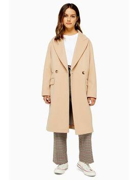 Zweireihiger Mantel Petite Größe by Topshop