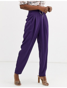 Asos Design Satin Balloon Trousers by Asos Design