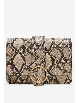 Snakeskin Effect Bag by Mango