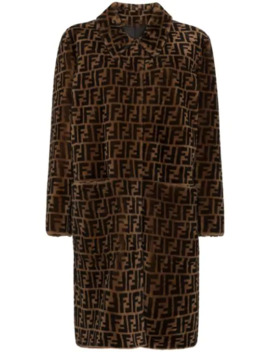 Reversible Ff Print Shearling Coat by Fendi