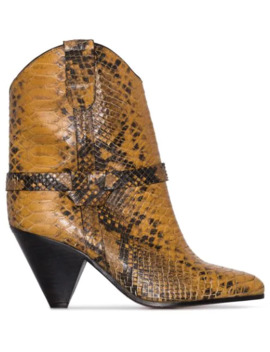 Deane 75mm Snake Effect Cowboy Boots by Isabel Marant