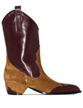 Deniz 45mm Panelled Cowboy Boots by Manu Atelier