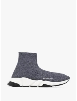 Grey Speed Sock High Top Sneakers by Balenciaga