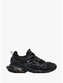 Black Track 2 Open Sneakers by Balenciaga