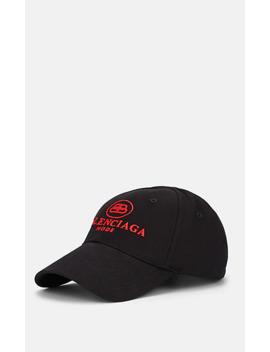 Logo Embroidered Cotton Baseball Cap by Balenciaga