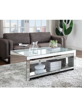 Acme Malish Wooden Frame Rectangular Coffee Table In Mirrored by Acme Furniture