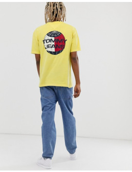 Tommy Jeans Summer Heritage Capsule T Shirt In Yellow With Back Print Logo by Tommy Jeans