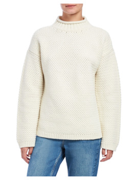 Basket Stitch Turtleneck Pullover Sweater by Theory