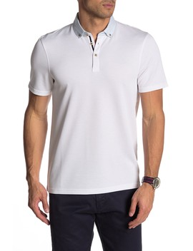 Woven Collar Short Sleeve Polo by Ted Baker London