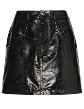 Python Effect Faux Leather Mini Skirt by We11done