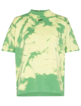Logo Print Tie Dyed T Shirt by Off White