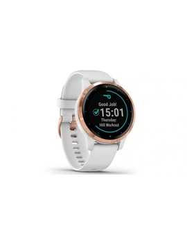 Garmin Vivoactive 4 S Smart Watch   Rose Gold With White Band by Harvey Norman
