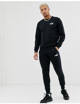 Puma Essentials – Schwarzes Sweatshirt Mit Kleinem Logo by Asos