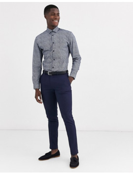 Selected Homme Slim Fit Floral Ditsy Print Shirt In Navy by Selected Homme
