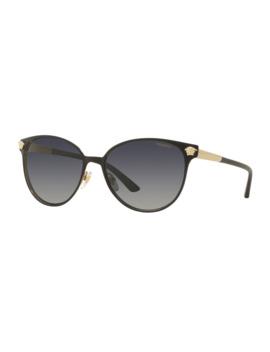 Polarized Medusa Head Round Sunglasses by Versace