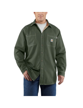 Flame Resistant Canvas Shirt Jac by Carhartt