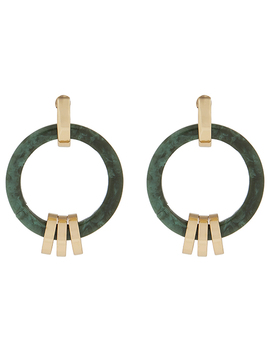 Green Ring Stud Earrings by Accessorize