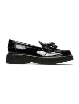Tasseled Fringed Leather Platform Loafers by Tod's