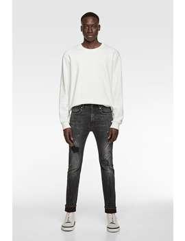 Skinny Jeans Med Malerpletter by Zara