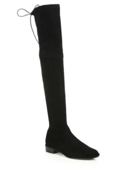 Lowland Suede Thigh High Boots by Stuart Weitzman