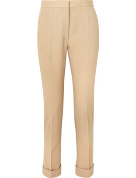 Wool Twill Straight Leg Pants by Stella Mc Cartney