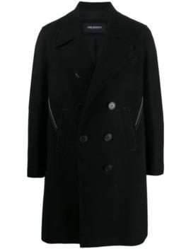 Manteau à Boutonnière Croisée Et Surpiqûres Contrastantes by Neil Barrett