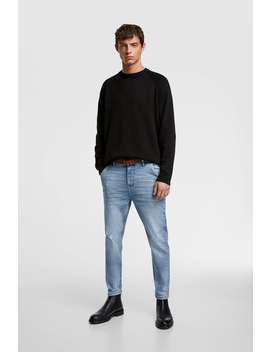 Belted Tapered Fit Jeans by Zara