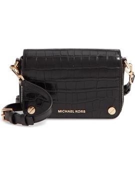 Small Jet Set Croc Embossed Leather Shoulder Bag by Michael Michael Kors