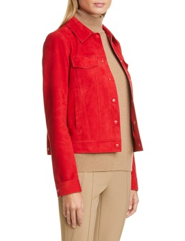 Destiny Suede Jacket by Lafayette 148 New York