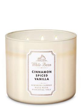 White Barn   Cinnamon Spiced Vanilla   3 Wick Candle    by White Barn