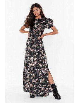 Nothin' Bud A Good Time Satin Maxi Dress by Nasty Gal